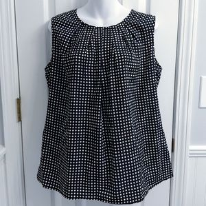 Merona XXL Navy & White Polka Dot Blouse Tank Top